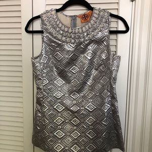 Tory Burch solver embellished sleeveless top